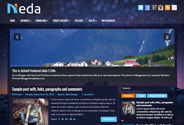 Neda Blogger Template