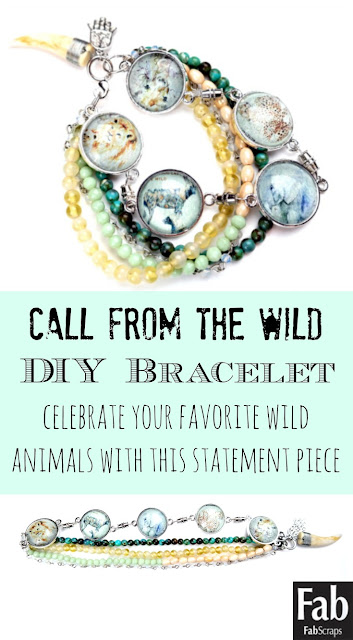 Call From the Wild Endangerd Animal Pendant and Beaded Bracelet Video Tutorial by Dana Tatar for FabScraps