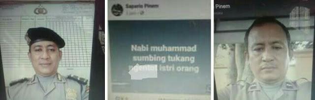 Oknum polisi di Polres Asahan yang menghina Nabi Muhammad.