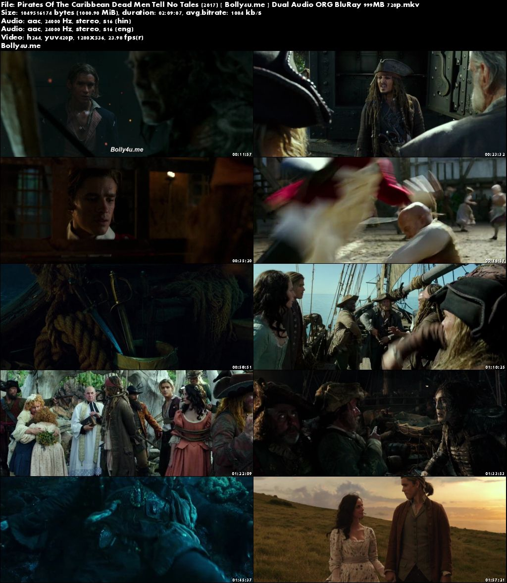 Pirates Of The Caribbean Dead Men Tell No Tales 2017 BRRip Hindi Dual Audio ORG 720p Download