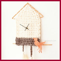 Reloj de pared a crochet