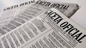 Véase SUMARIO Gaceta Oficial N° 41.383 del 24 de abril de 2018