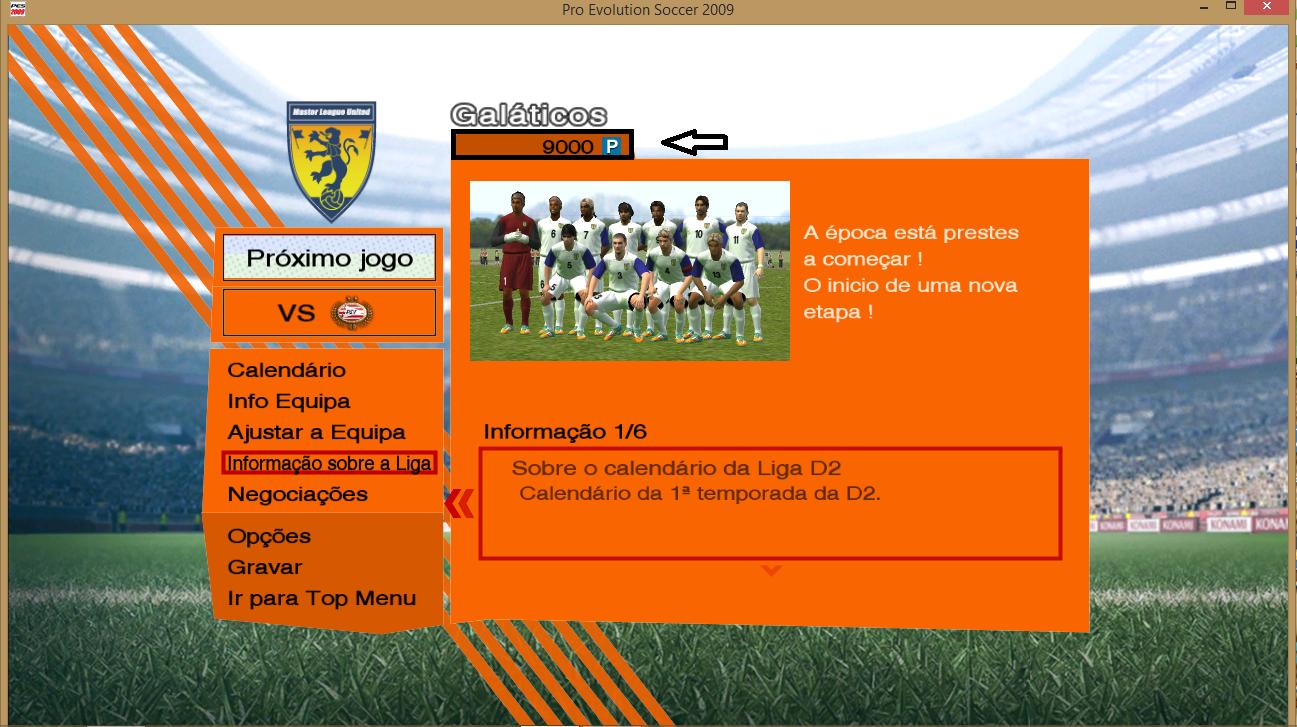GALATICOS BAIXAR PARA OS 2009 PC PATCH PES
