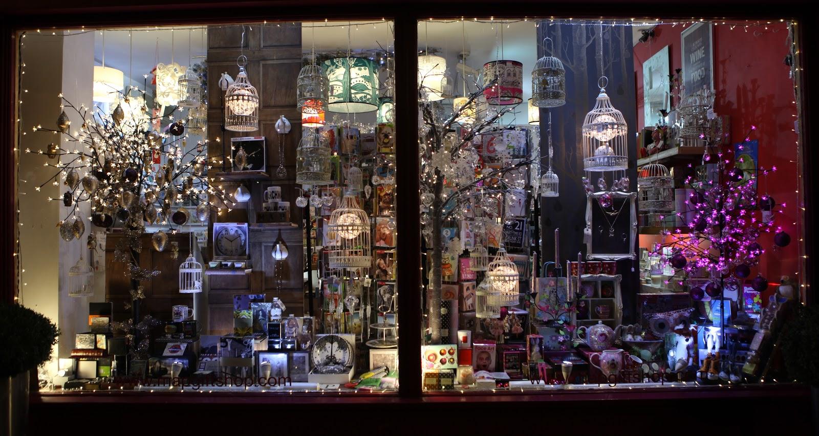 map gift shop: Christmas Window 2012