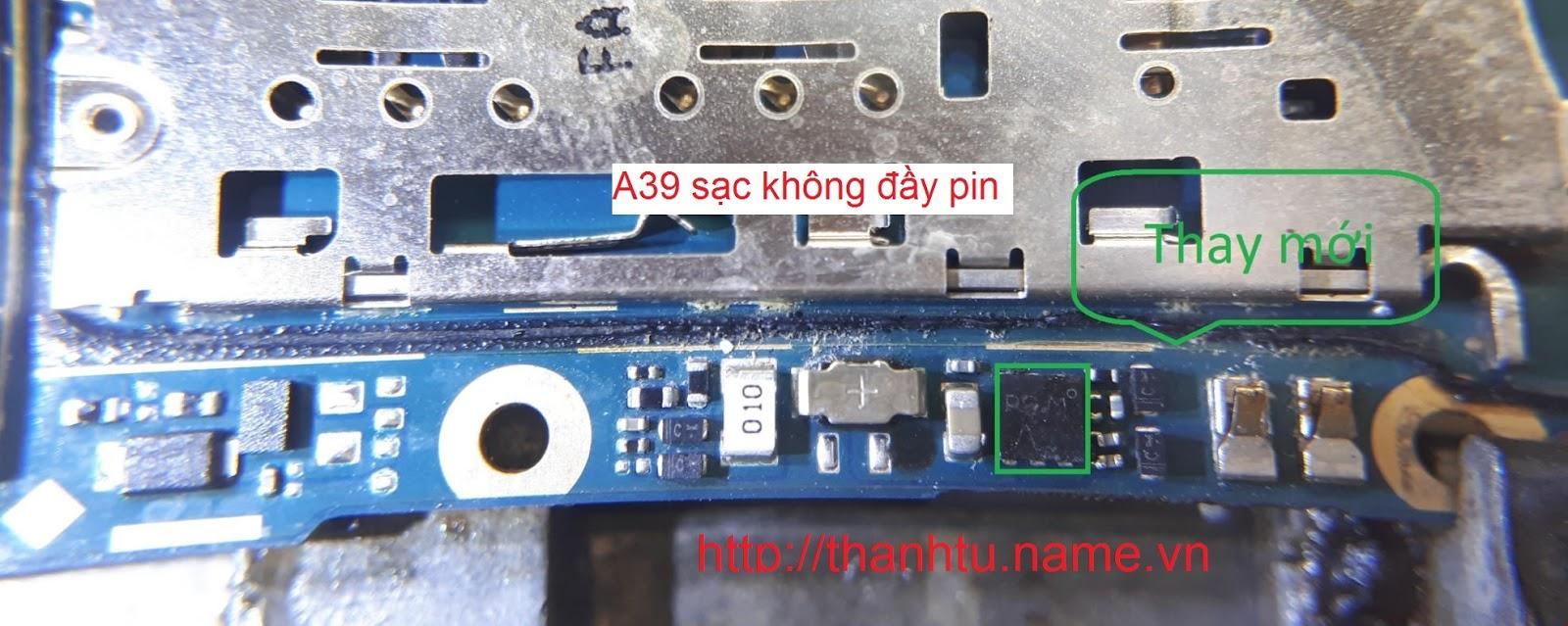 Oppo A39 sạc không đầy pin