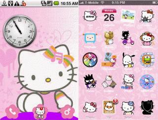 aplikasi tema android keren Android Hello Kitty