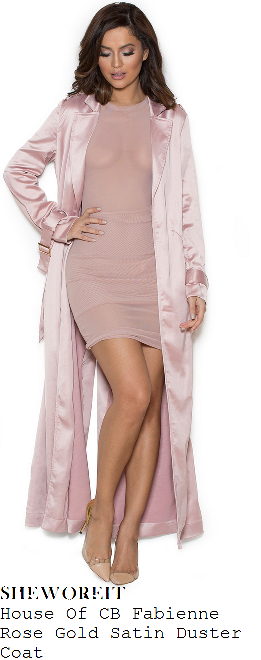 chloe-sims-house-of-cb-fabienne-rose-gold-pink-satin-duster-coat