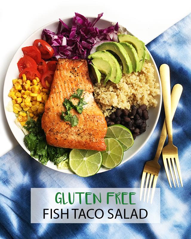 gluten free fish taco salad