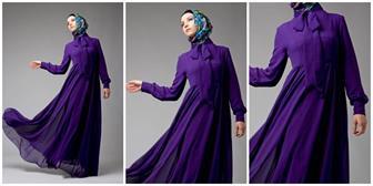 Maxi Dress Polos Dengan Warna Glamour Untuk Gaun Pesta Muslimah