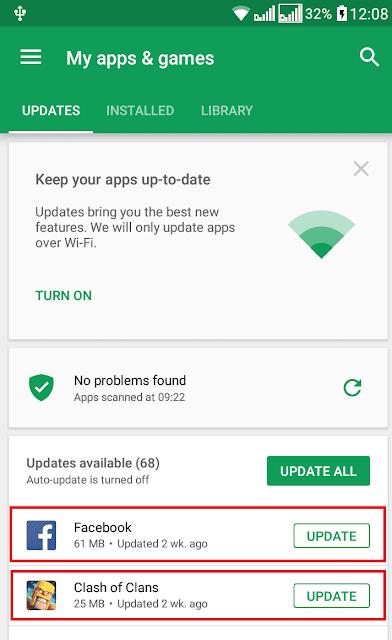 update aplikasi menghemat masa pakai baterai