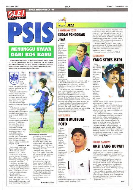 LIGA INDONESIA VI BOS BARU PSIS SEMARANG