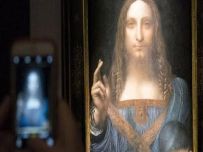 حقيقة شراء بن سلمان لوحة فنية بقيمة 450 مليار دولار - شاهد صور اللوحة