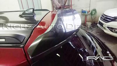 stiker karbon 5d spoiler wing