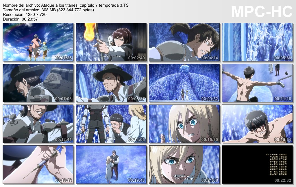 Attack on Titan - Tercera Temporada Capitulo 06 al 08