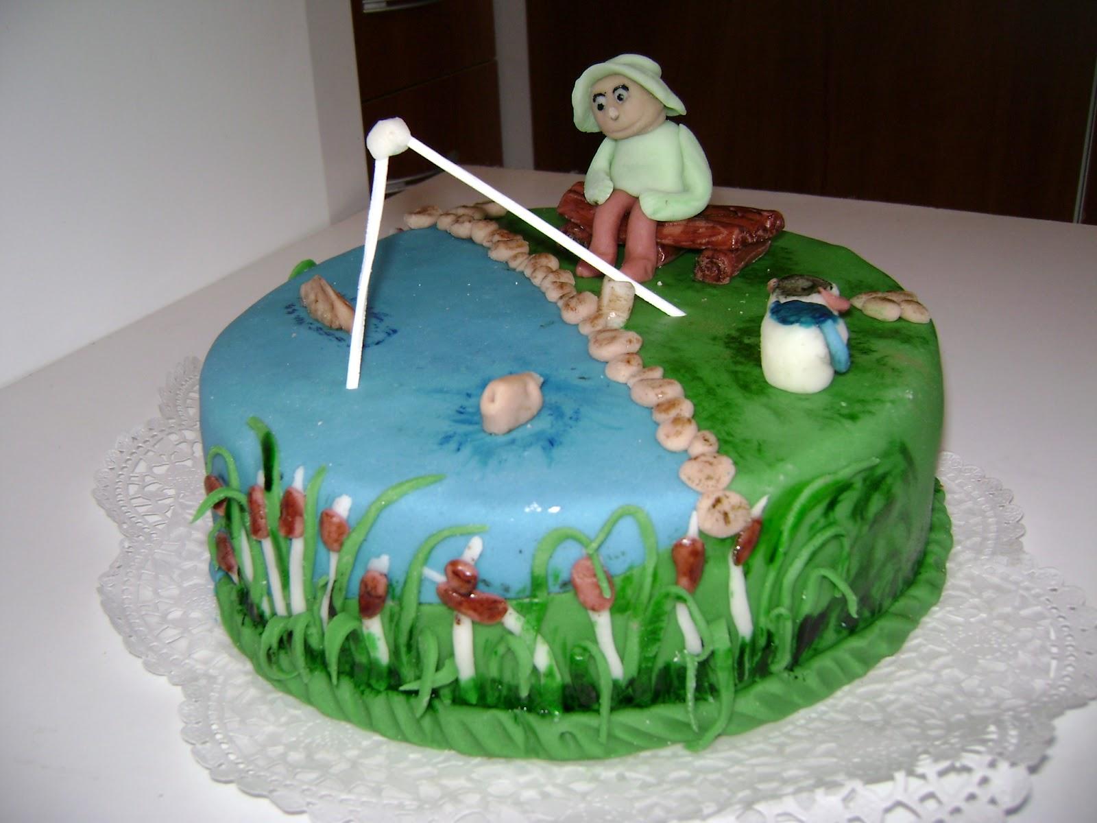 horgászos torta képek Judit tortácskái: Horgász torta horgászos torta képek