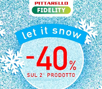 Logo Pittarello Fudelity ''Let is now'': per te subito il -40% di sconto