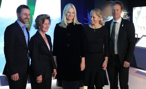Crown princess Mette-Marit attend the opening of Norwegian Olympic Museum.