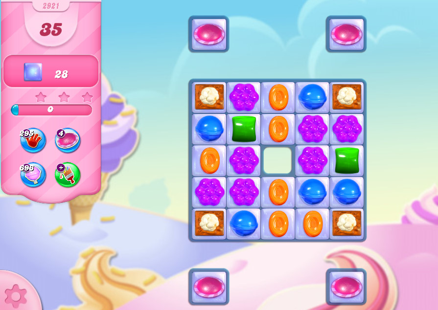Candy Crush Saga level 2921