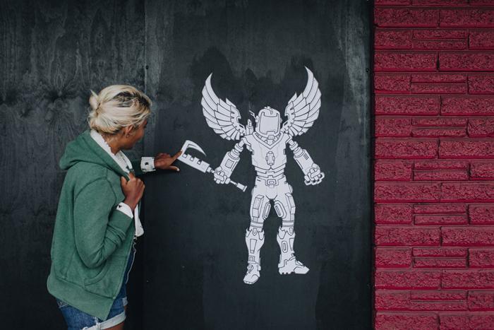 paste up street art