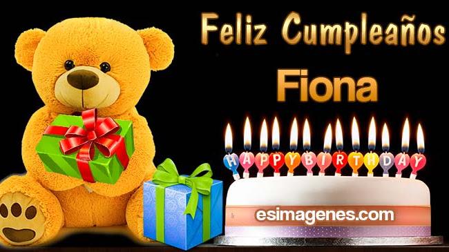 Feliz cumpleaños Fiona