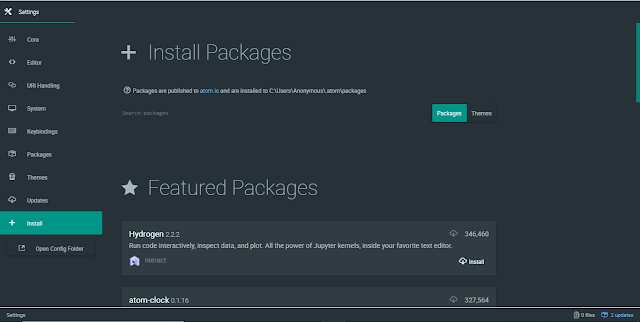 atom packages image
