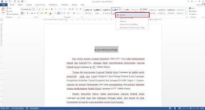 tutorial daftar isi