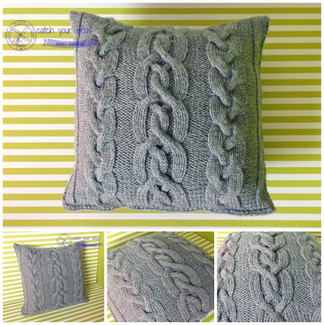 poszewka, poszewka na poduszke, poszewka na drutach, poduszka na drutach, poszewka druty, poszewka handmade, poszewka recznie robiona, knit pillow, durty, knit, knitting, knit home, dom druty, rekodzielo, handmade, warkocze, wzor z warkoczami