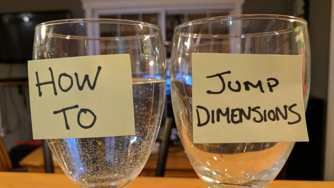 How To Quantum Jump With The 2 Glasses Exercise