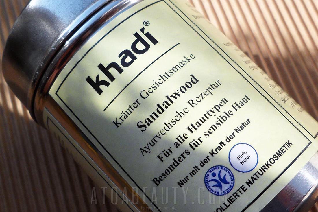 Khadi, Maseczka Sandałowa