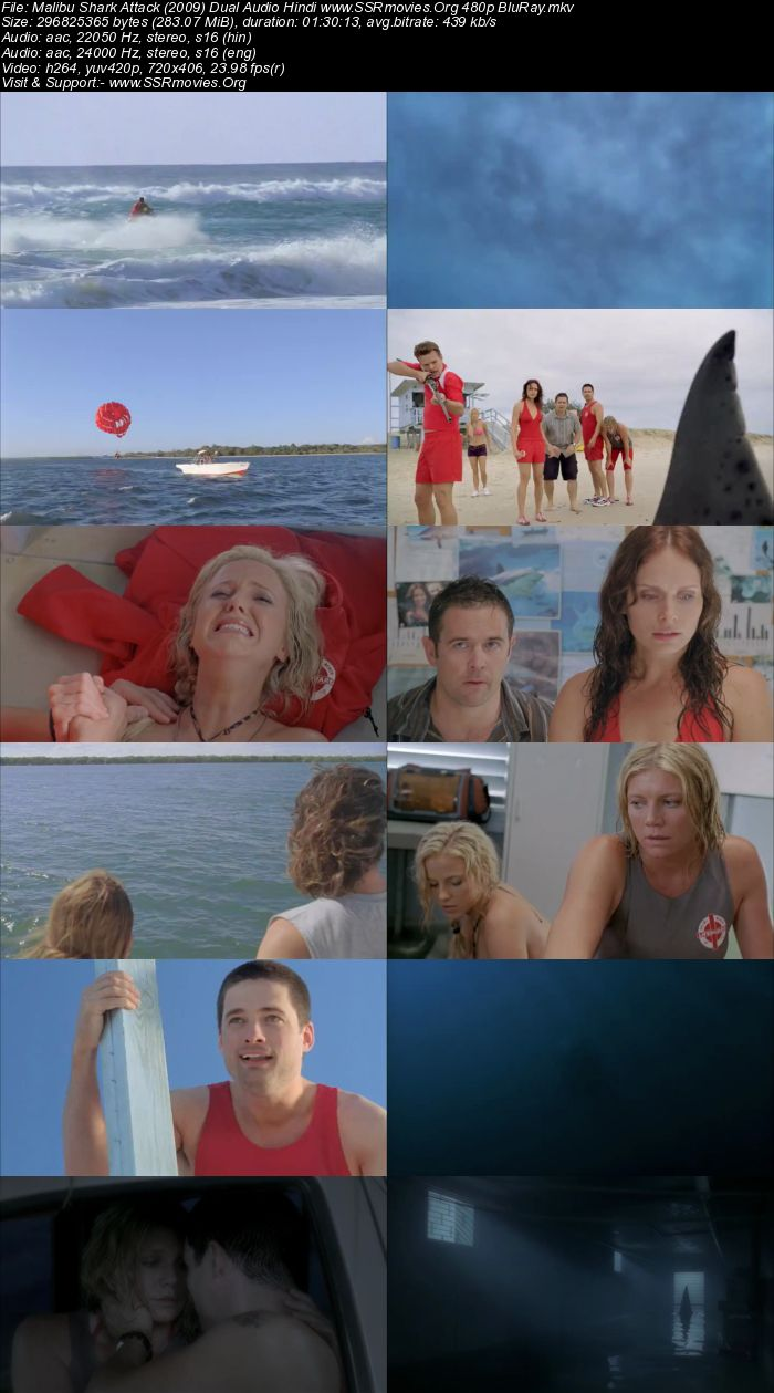 Malibu Shark Attack (2009) Dual Audio Hindi 480p BluRay