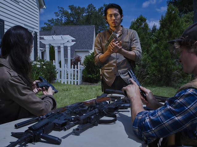 Steve Yeun como Glenn – The Walking Dead _ temporada 6, Gallery – Photo Credit: Frank Ockenfels 3/AMC