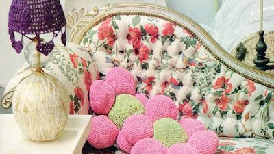 Almohadones amigurimi flor 6 pétalos y girasol a crochet