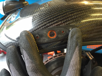 Indicator gasket makes the perfect mask - just make sure you put it on the correct way around!