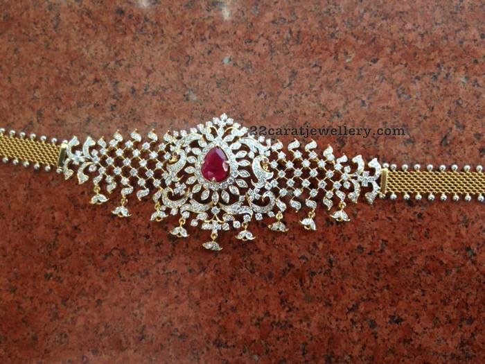 Diamond Choker and Tremendous Jhumkas