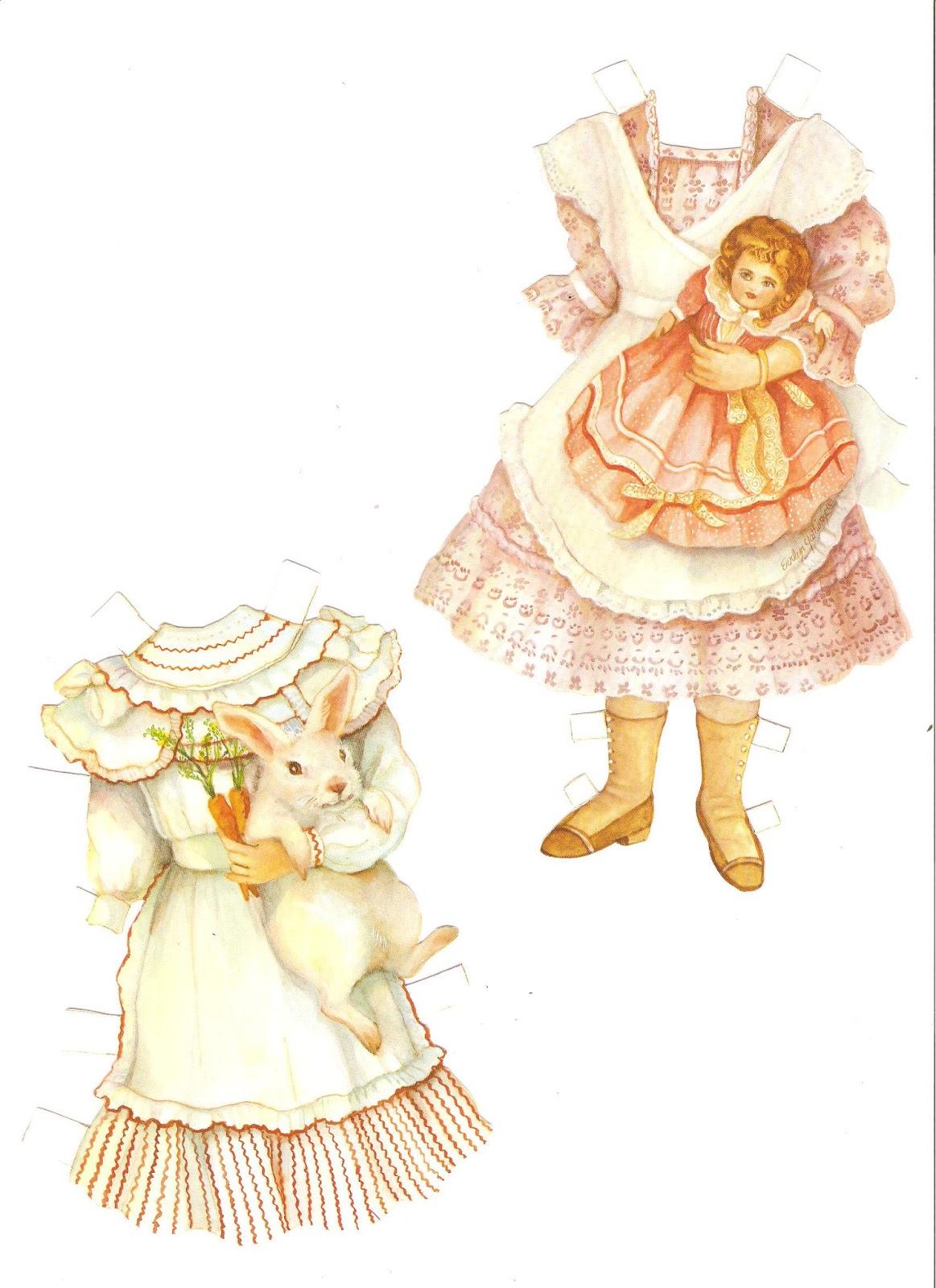 Miss Missy Paper Dolls Old Fashioned Children