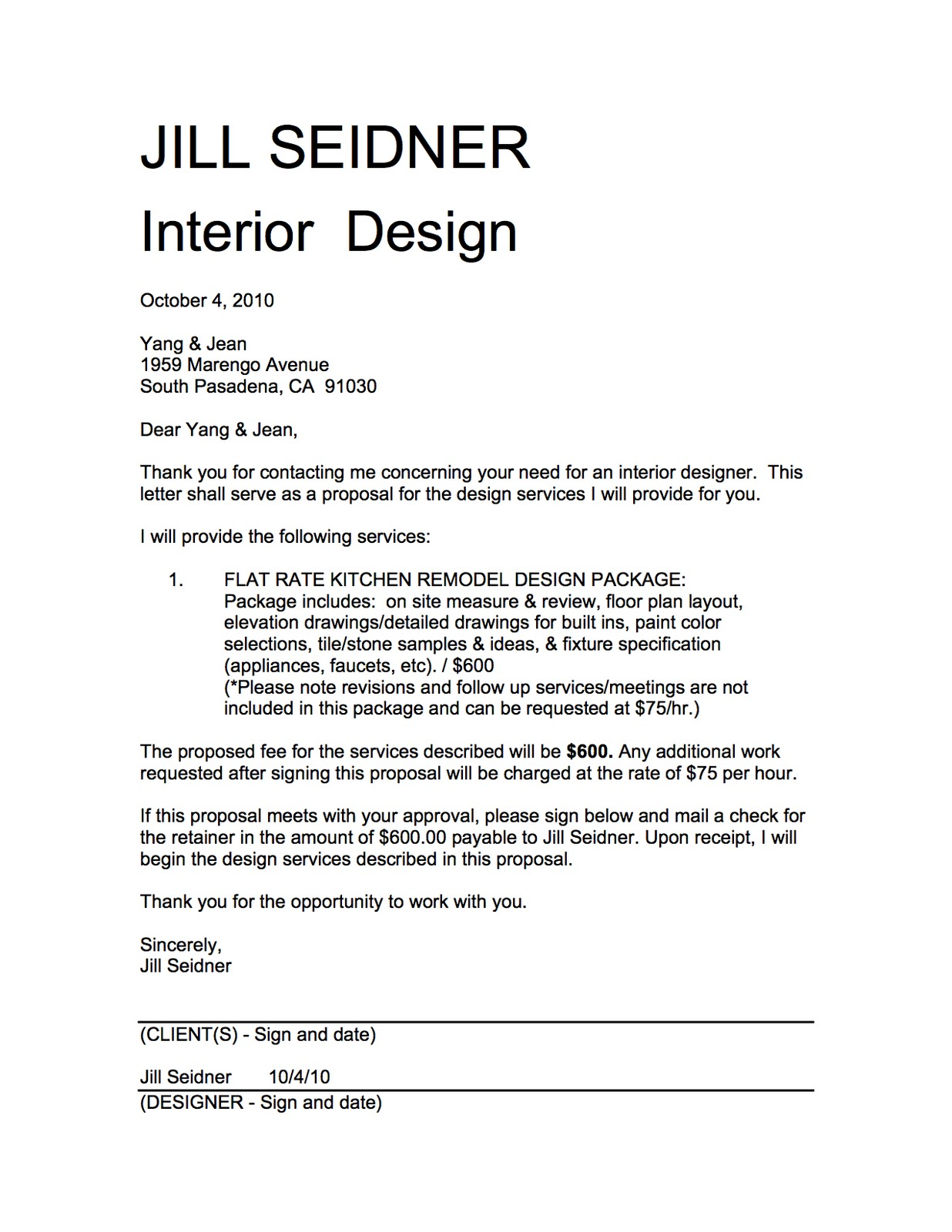 Lovely Sample Proposal Interior Design