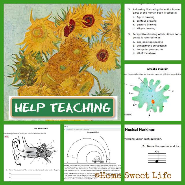 HelpTeaching.com, Online lessons, printable worksheets