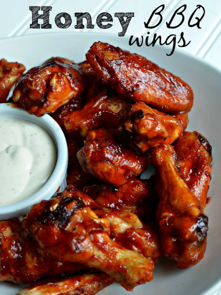 Honey BBQ Baked Chicken Wings Recipe