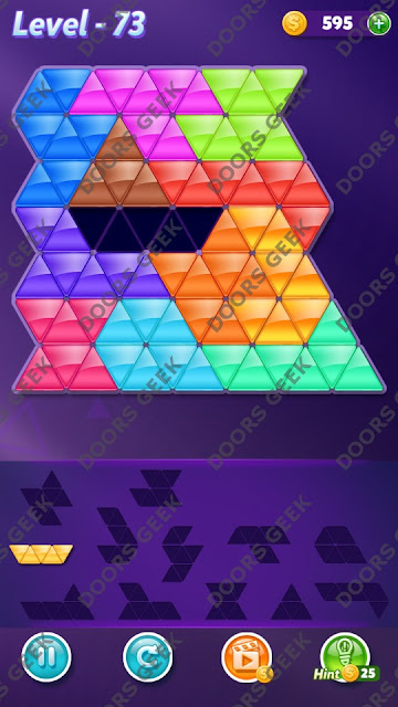 Block! Triangle Puzzle Grandmaster Level 73 Solution, Cheats, Walkthrough for Android, iPhone, iPad and iPod
