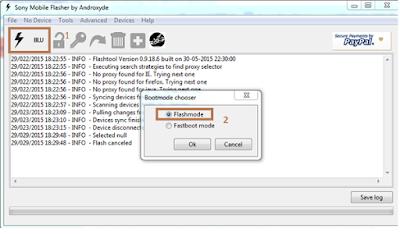 Cara Flash Sony Xperia M C1905 via Flashtool