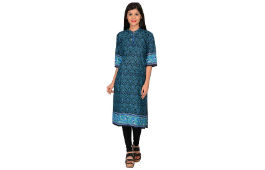 Nakoda Cotton Printed Unstitched Kurti Offer Price 99 (Mrp 599) Amazon deal by rainingdeal.in