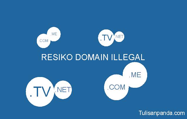 kerugian menggunakan domain murah namun illegal