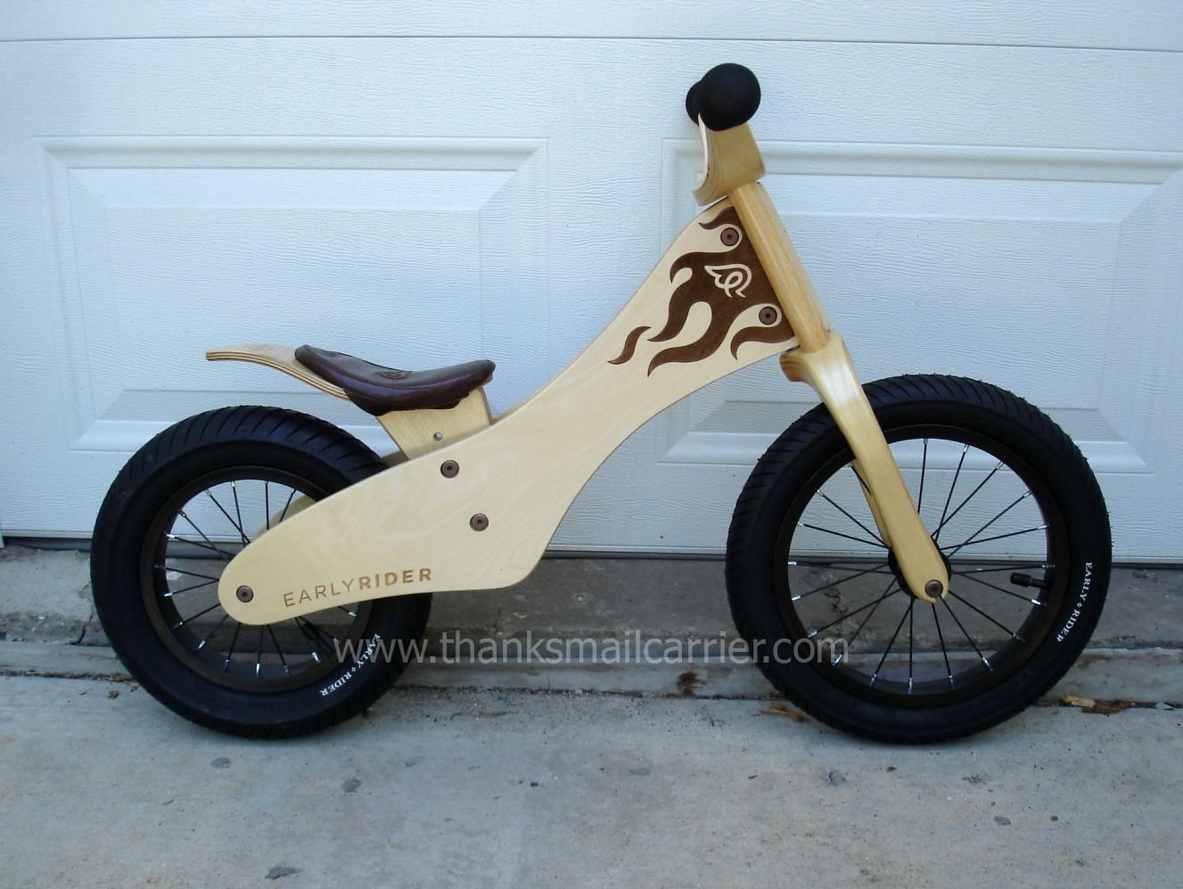 thanks mail carrier tykerider easy rider balance bike. Black Bedroom Furniture Sets. Home Design Ideas