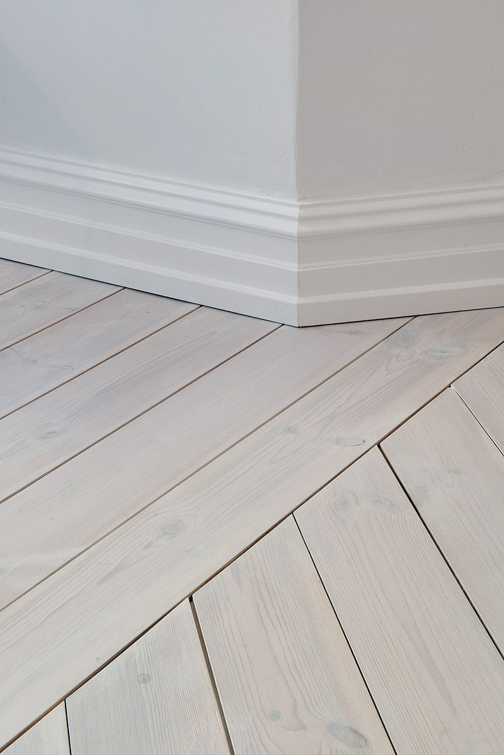 Grey wash floor boards interior