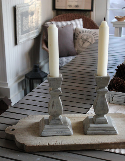 Candlestick makeovers with paint