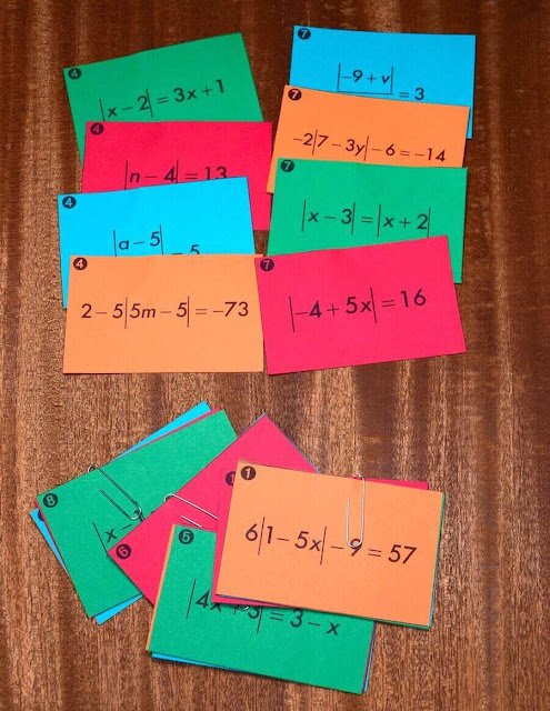 Absolute value functions and transformations are such an important concept for algebra students.  These foldables and notes for interactive notebooks will help students keep their lessons organized. Some of the activities could be used as homework too.