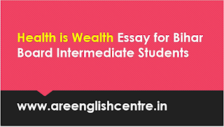 Health is Wealth Essay for Bihar Board Intermediate Students