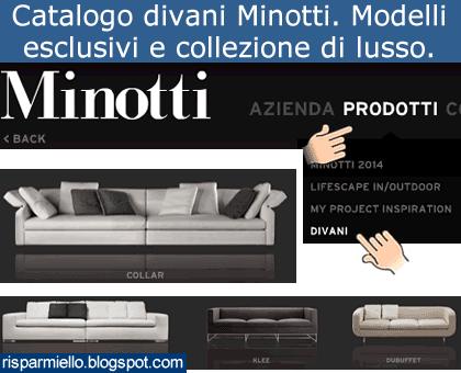 Risparmiello catalogo divani minotti for Catalogo divani