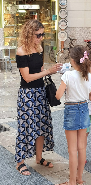 Falda larga verano handmade
