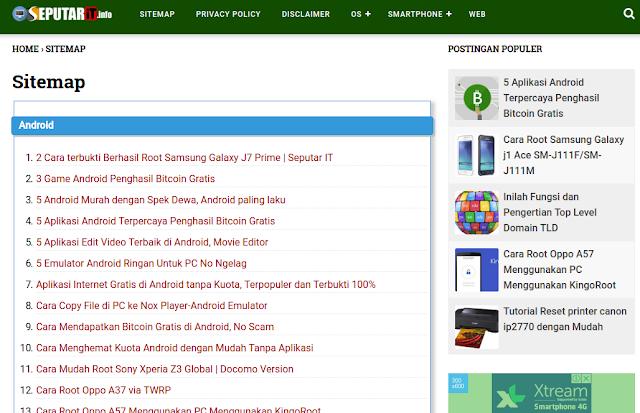 Membuat Daftar isi Blog Otomatis
